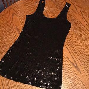 Express black sequin tank top size XS